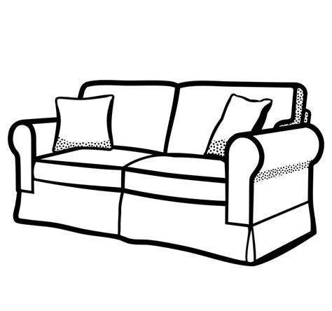 sofa set drawing clipart sofa lineart