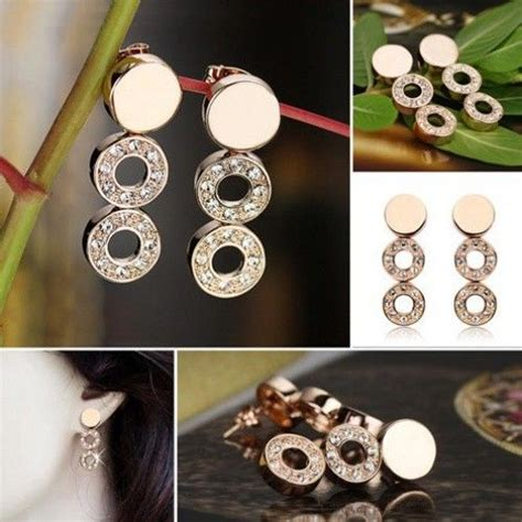 Anting Korea Disc Plate Acrylic Earrings 1 infinity hoops collection