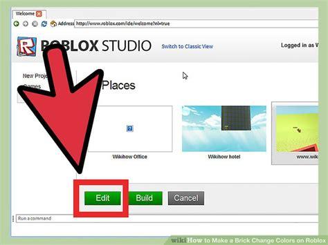 change brick color how to make a brick change colors on roblox with pictures