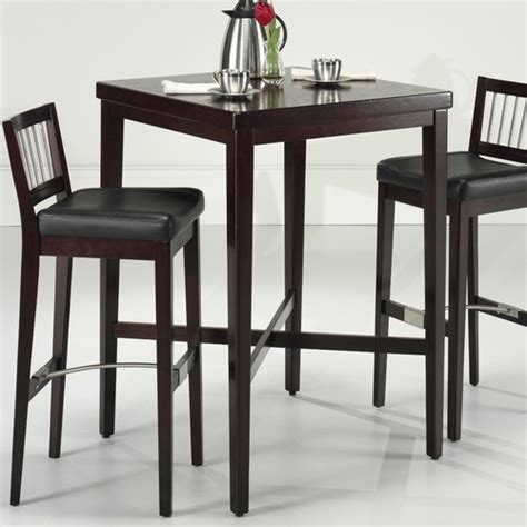 pub kitchen tables pub table in cherry modern bar tables by wayfair
