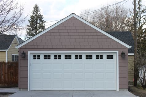 2 car garage gable roof style vs gable roof style