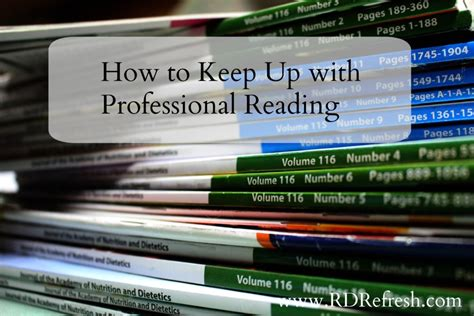 Finding Ways To Keep Up With Professionals by How To Keep Up With Professional Reading Rd Refresh