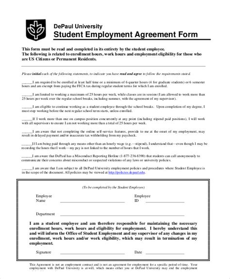 student agreement contract 11 student agreement contract sles sle templates