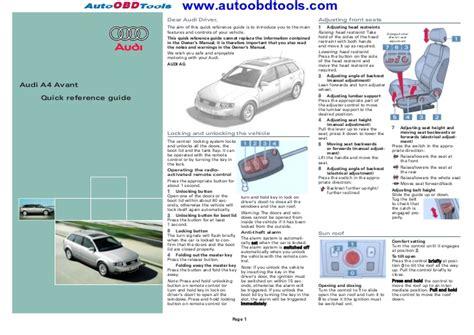 motor repair manual 2011 audi a4 security system audi a4 quick reference guide diagram user manual