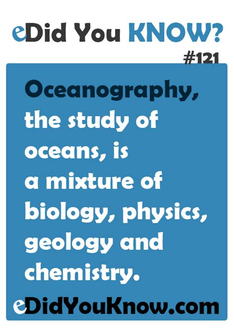 oceanography the study of oceans is a mixture of biology
