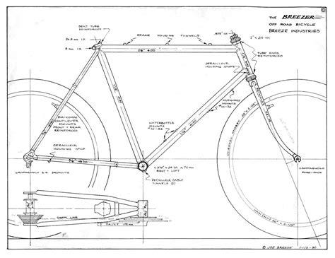 bicycle frame design dimensions breezer series 2 1980 81 peter verdone designs
