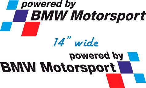 Sticker Bmw Nurburgring Iiim Medium Size product pair bmw powered by bmw motorsport decal sticker m3 m6 m5 m4 e92 e46 e36