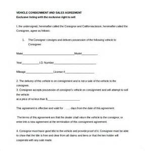 consignment agreement template 12 free word pdf document