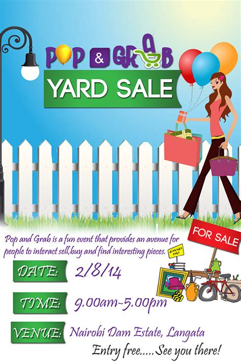 Neighborhood Yard Sale Flyer Templates