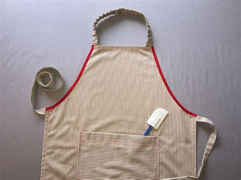 apron pattern step by step how to sew an apron no pattern pieces needed