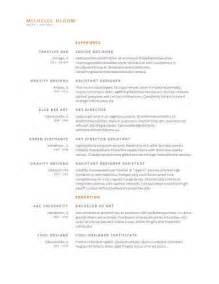 simple resume templates 75 exles free