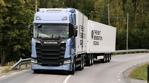 scania trucks transport writers take scania s new truck generation out