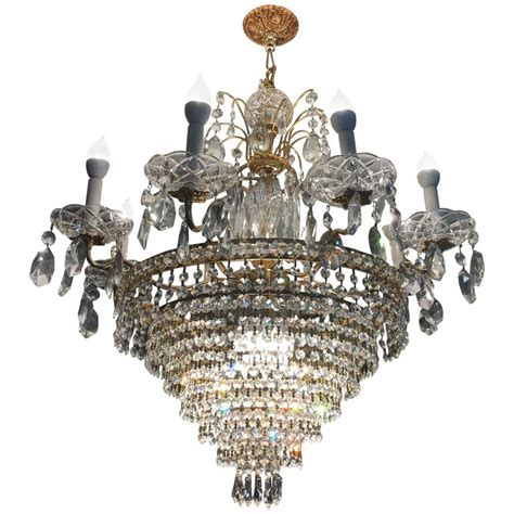 Swarovski Chandeliers For Sale Neoclassical Style Possible Swarovski Twelve Light Tiered Chandelier For Sale At 1stdibs