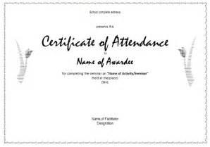 Certification Letter Of Attendance 6 Certificate Of Attendance Templates Website Wordpress Blog