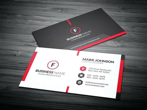 Card Name Template Psd by Business Cards Designs Templates Business Card Design