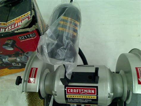 craftsman professional variable speed 8 bench grinder 21162 craftsman professional variable speed 6 quot bench grinder ebay