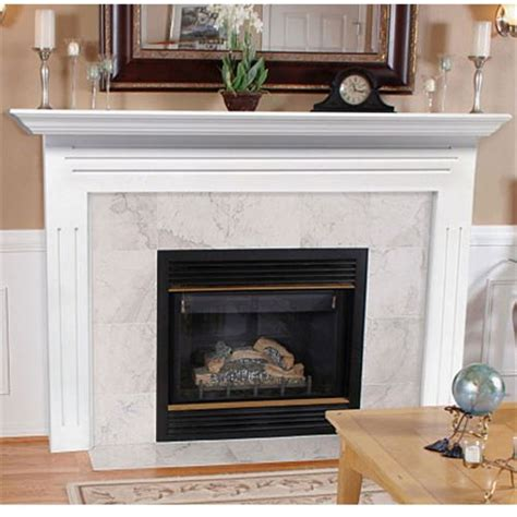 pearl mantels pearl mantels 510 48 the newport flush mount mantel surround painted white