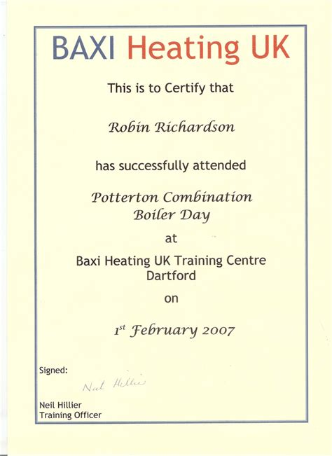 Richardson Plumbing And Heating by Robin Richardson Plumbing Heating Qualifications