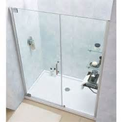 60 frameless shower door dreamline shdr 4158720 elegance 58 60 frameless pivot