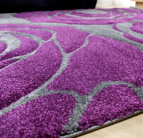 large purple rugs grey and purple flower pattern large and xl sizes home floor rug
