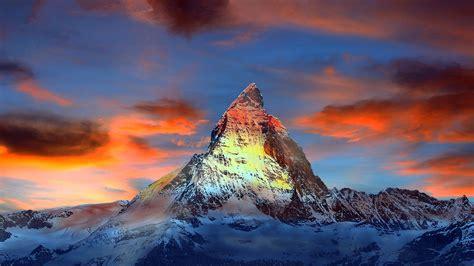 imagen gratis nubes cielo azul montana naturaleza