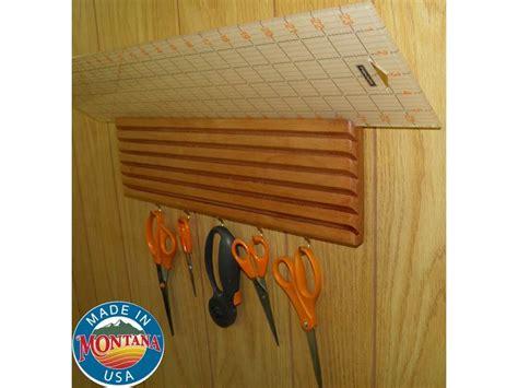 quilting ruler holder wall mounted solid mahogany 7