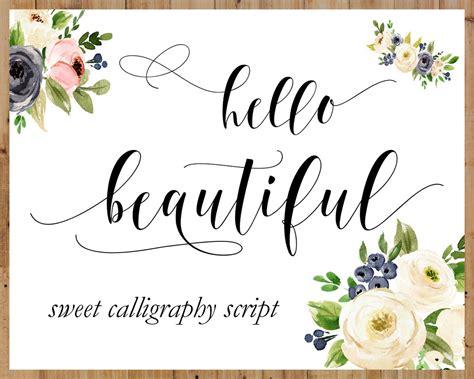 Wedding Font Calligraphy by Calligraphy Swirly Digital Font Handwritten Digital Font
