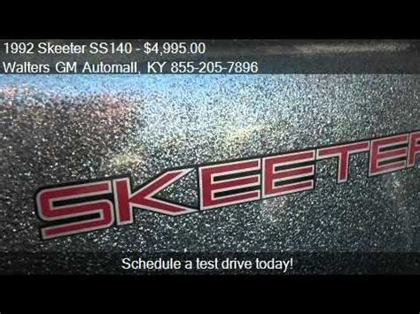 boats for sale in pikeville ky 1992 skeeter ss140 sle 2 for sale in pikeville ky 41501