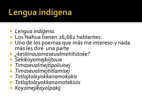 poemas e n lengua indigenas poemas e n lengua indigenas pueblos indigenas de mexico 5