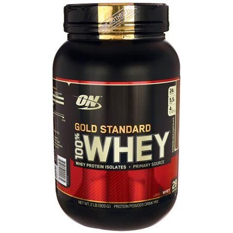 Whey Standard optimum nutrition 100 whey gold standard milk chocolate 2 lbs 909 grams pwdr