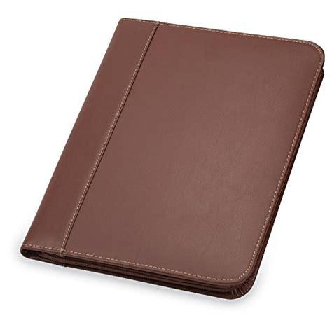 samsill contrast stitch leather padfolio lightweight