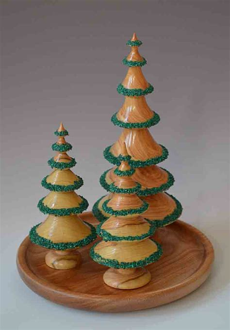 woodturning christmas trees dennis liggett