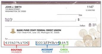 Routing Number Routing Number Bank Fund Staff Federal Credit Union