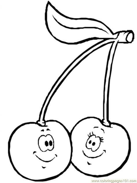 cherry coloring pages printable coloring pages