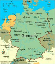 map of germany and cities map of germany with cities map of germany showing bundesl 228 nder and some cities germany
