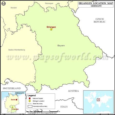 map of erlangen germany where is erlangen location of erlangen in germany map