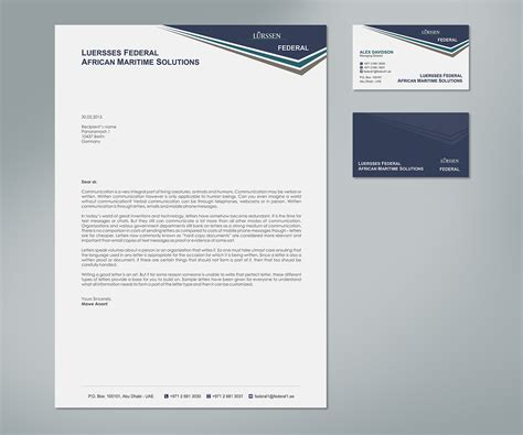 Business Letter Headed Paper business cards and letter headed paper docoments ojazlink
