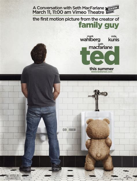 film ted ted movie poster mark wahlberg collider
