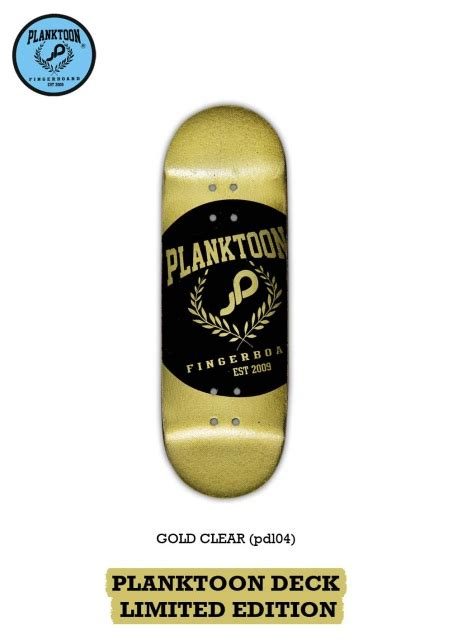Planktoon Fingerboard Top Dual Set Deck Collection planktoon deck limited quot gold clear quot pdl04