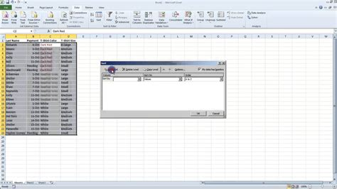 excel 2010 sorting tutorial 14 1 advanced sorting techniques creating custom lists