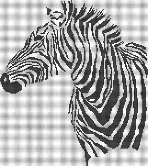 zebra graph pattern zebra pattern chart for cross stitch crochet knitting