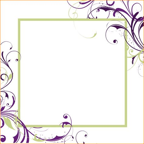 Free Wedding Border Templates For Word by 6 Border Invitation Templates Free Cook Resume