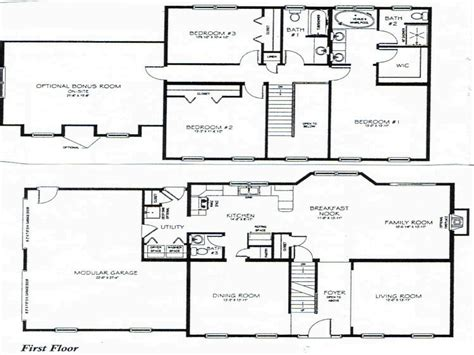 2 story home floor plans 2 story 3 bedroom house plans small two story house plan