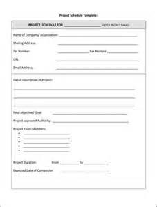 project form template project schedule template 8ws templates forms