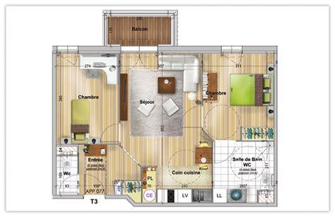 combien de chambre dans un t3 votre appartement dans une montana du studio au 3 pi 232 ces
