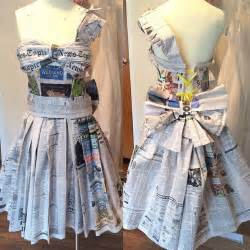 How To Make Paper Dress - recycled newspaper dresses recycled things