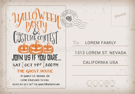 halloween party  costume contest invitation template