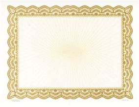 6 best images of gold certificate border gold star