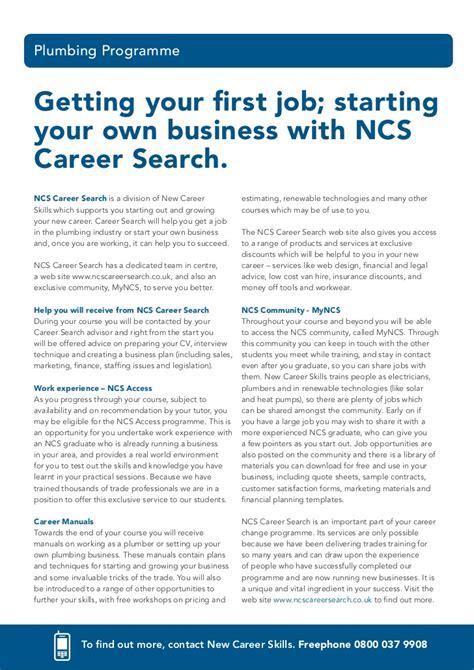 Ncs Plumbing by Plumbing Career Courses Brochure