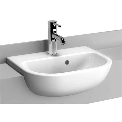 inset basin bathroom vitra s20 short projection semi recessed basin uk bathrooms
